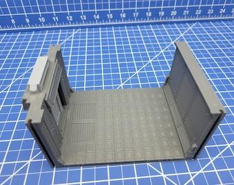 Long Room Door Tiles - Atomic Shelter - Atom Punk - Starfinder - Cyberpunk - Science Fiction - Syfy - RPG - Tabletop - Scatter - 28mm