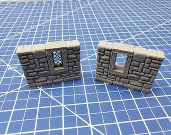 "Stone Window External Walls - Dragonshire - Building - Fat Dragon Games - DND - Pathfinder - RPG - Terrain - 28 mm/ 1"" - Dungeon & Dragons"