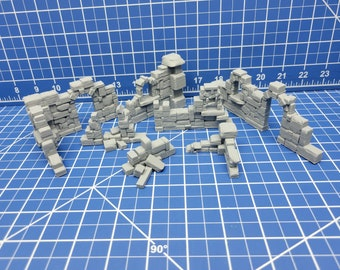 Small Ruins Scatter - DND - Dungeons & Dragons - RPG - Pathfinder - Tabletop - TTRPG - Devious Games - 28 mm