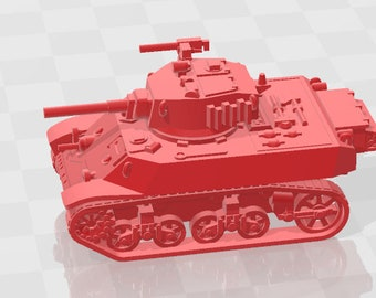 Stuart M3A3 - UK - Tanks - Armored Vehicle - World Of Tanks - War Game - Wargaming - Axis and Allies - Tabletop Games