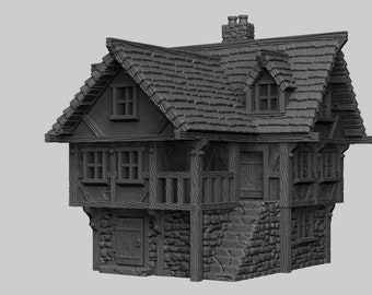 House 2 - DND - Dungeons & Dragons - RPG - Pathfinder - Tabletop - TTRPG - Demizens of Fantasy - Dark Realms - 32 mm