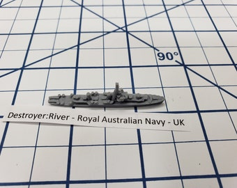 Destroyer - River Class - Royal Australian Navy - Wargaming - Axis and Allies - Naval Miniature - Victory at Sea - Tabletop Games - Warships
