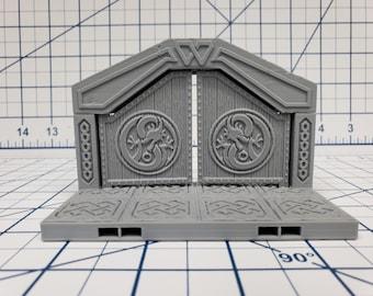 """Mountain King - Door Tile - DragonLock - DND - Pathfinder - RPG - Dungeon & Dragons - 28 mm / 1"""" - Fat Dragon Games"""