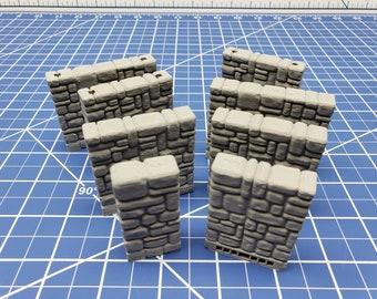 "Stone External Walls - Dragonshire - Building - Fat Dragon Games - DND - Pathfinder - RPG - Terrain - 28 mm/ 1"" - Dungeon & Dragons"