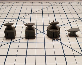 Blacksmith Anvil - Part of the Hero's Hoard Blacksmith Forge and Workshop  - DND - Pathfinder - Dungeons & Dragons - RPG - Tabletop - 28 mm