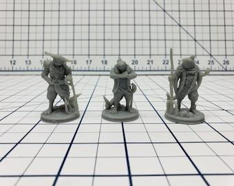 Shark Men Mini - Savage Atoll - Hero's Hoard - DND - Pathfinder - Dungeons & Dragons - RPG - Tabletop - EC3D - Miniature