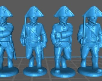 Austrian Landwehr Command - Great for Table Top War Games And Dioramas - Resin 28mm Miniatures - Bolt Action -