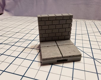 """Cut Stone Wall Tiles - OpenLock or DragonLock - Openforge - DND - Pathfinder - Dungeons & Dragons - RPG - Tabletop - 28 mm / 1"""""""
