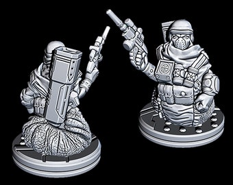 "Slug Bounty Hunter - Novus Landing - Starfinder - Cyberpunk - Science Fiction - Syfy - RPG - Tabletop - Scatter- Terrain- 28 mm / 1"""