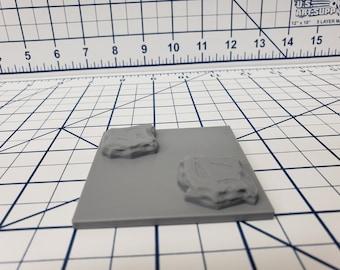"Water Tile Accessories - EC3D - DND - Pathfinder - Dungeons & Dragons - RPG - Tabletop - 28 mm / 1"" - True Tiles"