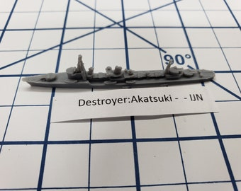 Destroyer - Akatsuki Class - IJN - Wargaming - Axis and Allies - Naval Miniature - Victory at Sea - Tabletop Games - Warships
