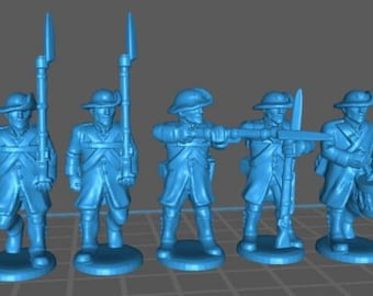 Austrian Landwehr with folded Rundenhut and Uberrock - Great for Table Top War Games And Dioramas - Resin 28mm Miniatures - Bolt Action -