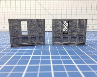 "Half-Timbered Window External Walls - Dragonshire - Building - Fat Dragon - DND - Pathfinder - RPG - Terrain - 28 mm/ 1"" - Dungeon & Dragons"