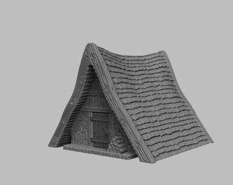 Invader Huts - DND - Dungeons & Dragons - RPG - Pathfinder - Tabletop - TTRPG - Medieval Scenery - Dark Realms - 28 mm