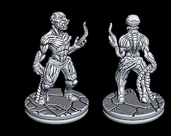 """Hive Infected Male - Novus Landing - Starfinder - Cyberpunk - Science Fiction - Syfy - RPG - Tabletop - Scatter- Terrain- 28 mm / 1"""""""