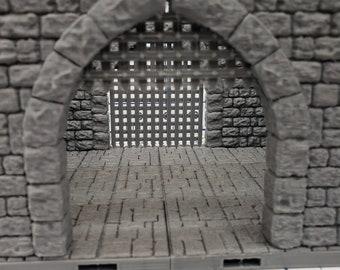 "Castle Style - Gatehouse Tiles- DragonLock - DND - Pathfinder - RPG - Dungeon & Dragons - 28 mm / 1"" - Terrain - Fat Dragon Games"