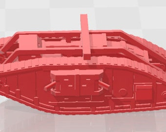 Mark V - UK - Tanks - Armored Vehicle - World Of Tanks - War Game - Wargaming - Axis and Allies - Tabletop Games