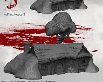 House 3 - DND - Dungeons & Dragons - RPG - Pathfinder - Tabletop - TTRPG - Halfling Village - Dark Realms - 28 mm