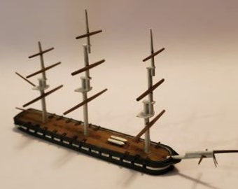 USS Congress - Union - Ships - Sailboats - Age of Sail - War Game - Wargaming - Tabletop Games - 1/600 Scale
