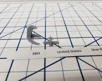 Aircraft - SBD Dauntless - US Navy - 1:900 - Wargaming - Axis and Allies - Naval Miniature - Victory at Sea - Tabletop Games - Warships
