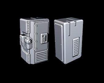 "Lockbox - Novus Landing - Starfinder - Cyberpunk - Science Fiction - Syfy - RPG - Tabletop - Scatter- Terrain- 28 mm / 1"""