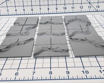 "Water Floor Tiles - EC3D - DND - Pathfinder - Dungeons & Dragons - RPG - Tabletop - 28 mm / 1"" - True Tiles"