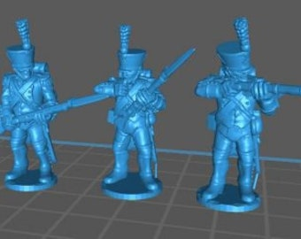 French Voltigeurs 1808, high uniform - Great for Table Top War Games And Dioramas - Resin 28mm Miniatures - Bolt Action -