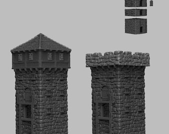 Tower Middle Section - DND - Dungeons & Dragons - RPG - Pathfinder - Tabletop - TTRPG - Medieval Scenery - Dark Realms - 28 mm