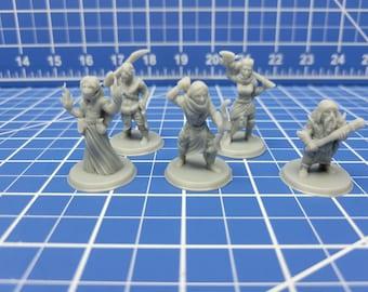 Bandits - Minis - Beasts and Badies - Hero's Hoard - DND - Pathfinder - Dungeons & Dragons - RPG - Tabletop - EC3D - Miniature