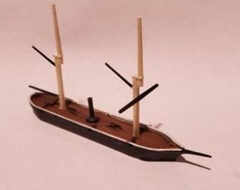 USS Unadilla - Union - Ships - Sailboats - Age of Sail - War Game - Wargaming - Tabletop Games - 1/600 Scale