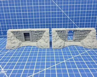 "Barrow Mounds - Entrance Door Tiles - Dragonshire - Fat Dragon Games - DND - Pathfinder - RPG - Terrain - 28 mm / 1"" - Dungeon & Dragons"