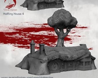 House 4 - DND - Dungeons & Dragons - RPG - Pathfinder - Tabletop - TTRPG - Halfling Village - Dark Realms - 28 mm