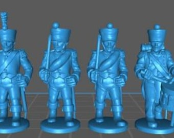 French Line Command 1808, campaign uniform - Great for Table Top War Games And Dioramas - Resin 28mm Miniatures - Bolt Action -
