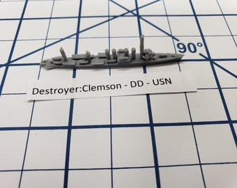 Destroyer - Clemson Class - USN - Wargaming - Axis and Allies - Naval Miniature - Victory at Sea - Tabletop Games - Warships