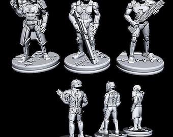 "Alliance Patrol - Novus Landing - Starfinder - Cyberpunk - Science Fiction - Syfy - RPG - Tabletop - Scatter- Terrain- 28 mm / 1"""