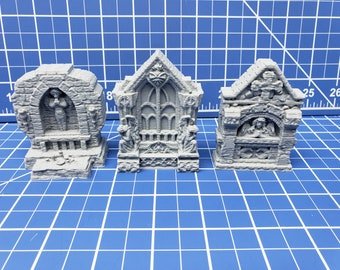 """Shrines - The Holy Order of Ash - DND - Dungeons & Dragons - RPG - Terrain - Pathfinder - Tabletop - EC3D - Miniature - 28 mm - 1"""""""