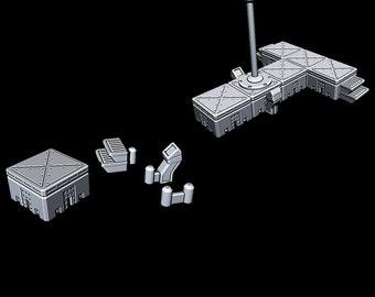 "Modular Walkway Stage - Novus Landing - Starfinder - Cyberpunk - Science Fiction - Syfy - RPG - Tabletop - Scatter- Terrain- 28 mm / 1"""