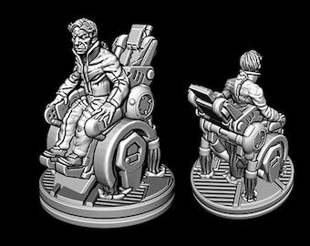 "Professor Rex - Novus Landing - Starfinder - Cyberpunk - Science Fiction - Syfy - RPG - Tabletop - Scatter- Terrain- 28 mm / 1"""