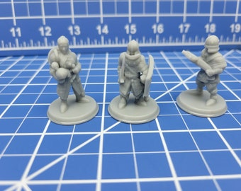 Town Guards - Minis - Beasts and Badies - Hero's Hoard - DND - Pathfinder - Dungeons & Dragons - RPG - Tabletop - EC3D - Miniature