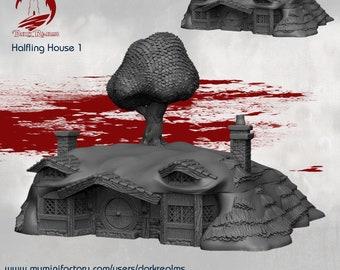 House 1 - DND - Dungeons & Dragons - RPG - Pathfinder - Tabletop - TTRPG - Halfling Village - Dark Realms - 28 mm