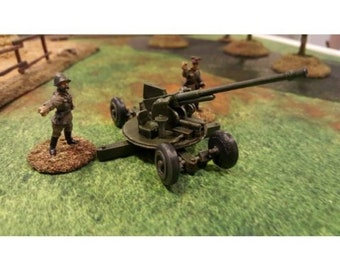 Soviet Model 1939 37mm AA gun – Model 1938 M-30 - Great for Table Top War Games And Dioramas - Resin 28mm Miniatures - Bolt Action -