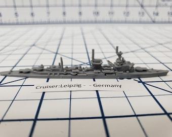 Cruiser - Leipzig - German Navy - Wargaming - Axis and Allies - Naval Miniature - Victory at Sea - Tabletop Games - Warships