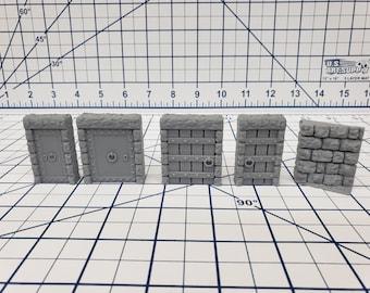 """Dungeon Stone - Free Standing Door Set - Fat Dragon Games - DND - Pathfinder - RPG - Terrain - 28 mm / 1"""" - Dungeon & Dragons - Warhammer"""