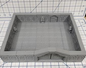 "Mountain King - Statue Room - Dwarven - DragonLock - DND - Pathfinder - RPG - Dungeon & Dragons - 28 mm / 1"" - Fat Dragon Games"