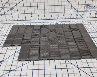 "Floor Tiles - SciFi - Fat Dragon Games - DragonLock - DND - Pathfinder - RPG - Terrain - Space - Science Fiction  28 mm / 1"""