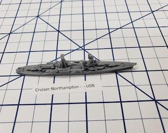 Cruiser - Northampton - USN - Wargaming - Axis and Allies - Naval Miniature - Victory at Sea - Tabletop Games - Warships
