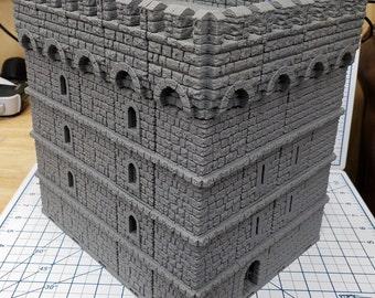 "Castle Keep - DragonLock - DND - Pathfinder - RPG - Dungeon & Dragons - 28 mm / 1"" - Fat Dragon Games"