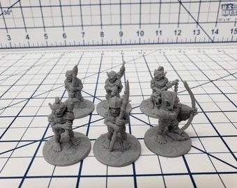 "Goblin Minis Sets  - DND - Pathfinder - RPG - Dungeon & Dragons - Miniature - Mini - 28 mm / 1"" - Fat Dragon Games"