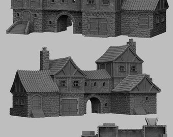 Merchants Manor - DND - Dungeons & Dragons - RPG - Pathfinder - Tabletop - TTRPG - Medieval Scenery - Dark Realms - 28 mm