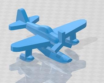 Aircraft - A6M2 Rufe - Floatplane - IJN Navy - 1:900 - Wargaming - Axis and Allies - Naval Miniature - Victory at Sea - Tabletop - Warships